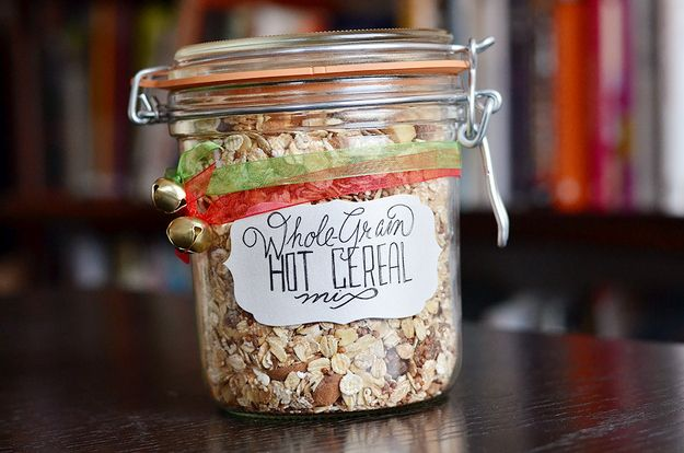 Mixing up grains ahead of time makes it that much easier to eat a cozy, healthy breakfast in the morning. This also makes a great holiday gift.