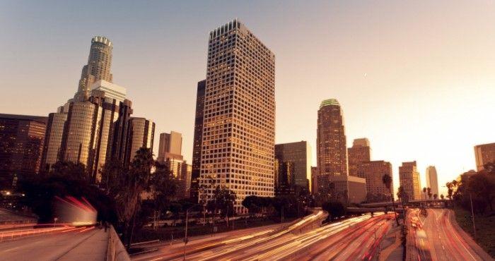 Лос Анджелес в закат   Los Angeles at sunset