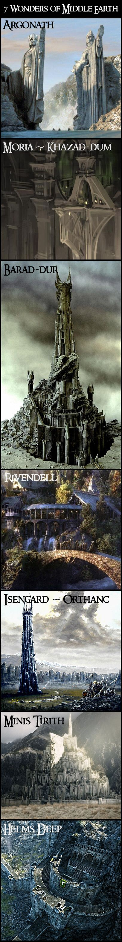 The 7 Wonders of Middle Earth - <3 <3 <3 this!