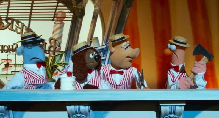 Barber shop quartet, Beaker with axe | The Muppets ...