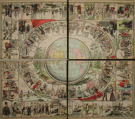 Around the World in 80 Days Game Board