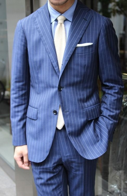 The 25  best Blue pinstripe suit ideas on Pinterest | Navy ...