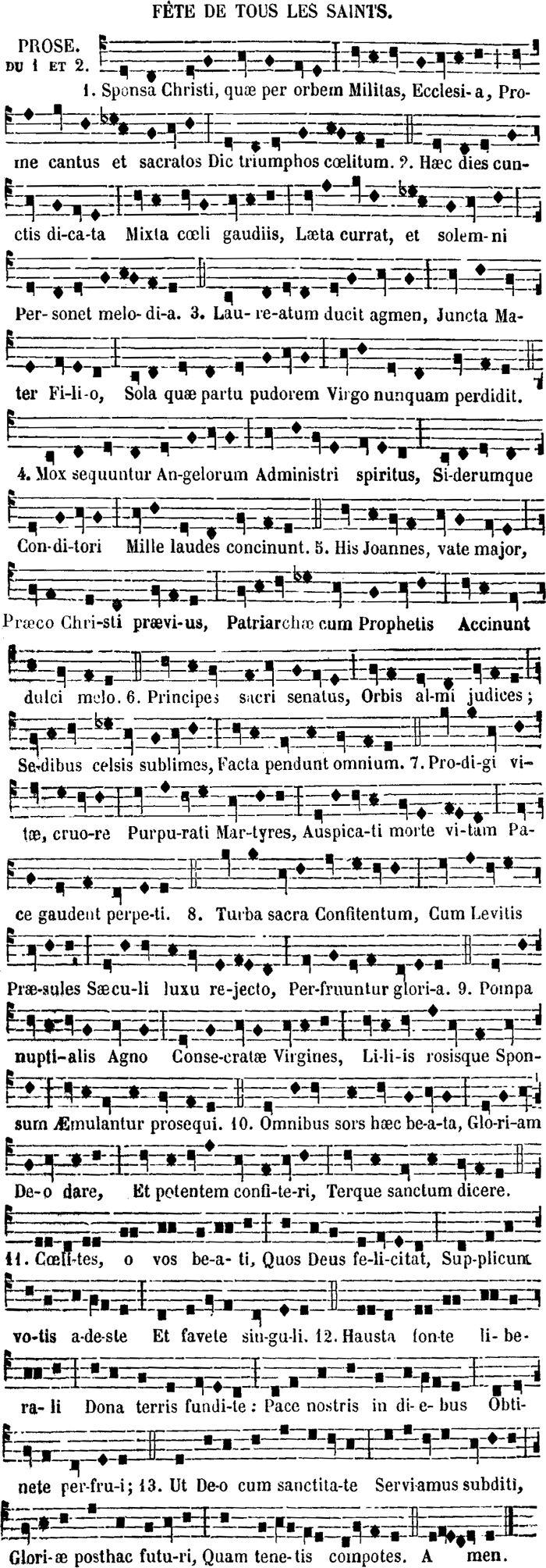 33 best plain chants images on pinterest saints action and menu squence parisienne de la toussaint hexwebz Choice Image