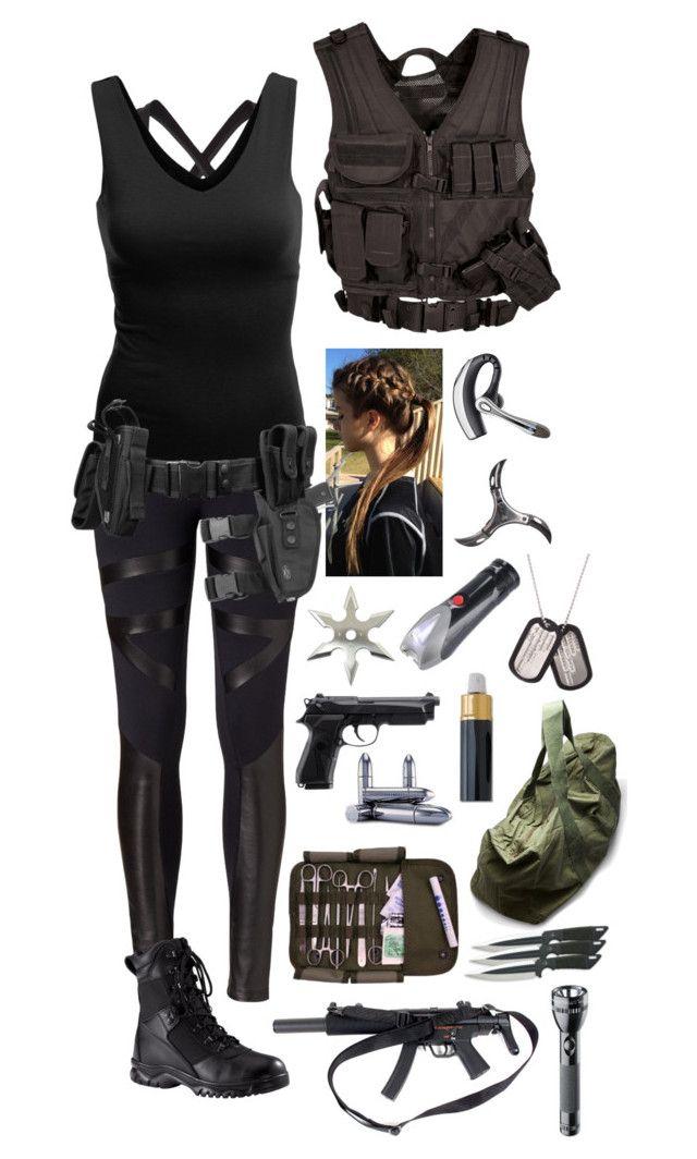S.H.I.E.L.D. agent #3 by emma-directioner-r5er on Polyvore featuring Doublju, David Lerner, adidas, Ganni, Rothco, Maglite, Juliette Has A Gun, women's clothing, women's fashion and women