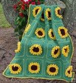 cottage floral afghan: Crochet Blankets, Afghan Crochet Patterns, Sunflower Afghan, Afghan Patterns, Crafty, Afghans Blankets Quilts, Sunflowers Grannies Afghans