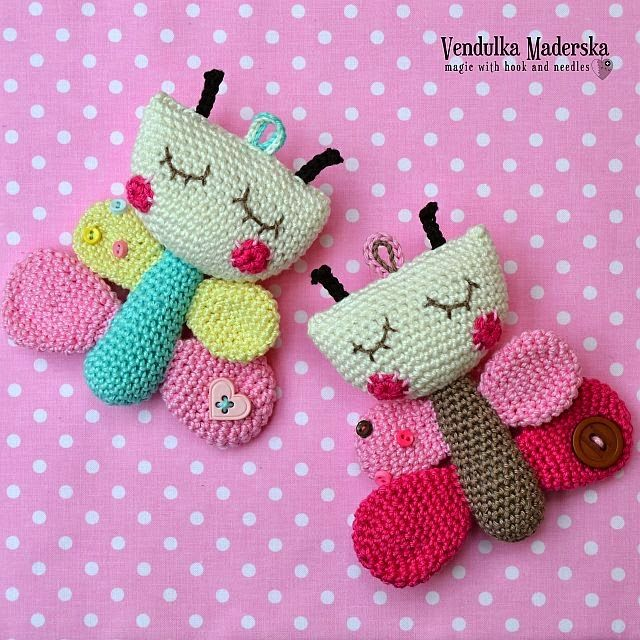 Amigurumi Butterfly Tutorial : Crochet Butterfly Amigurumi ? Pinterest The shape ...