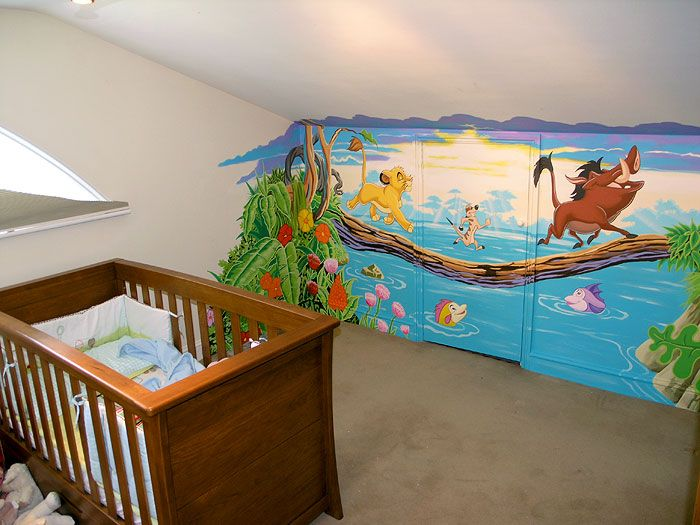 If I have a little boy one day, I'm definitely doing a Lion King nursery!