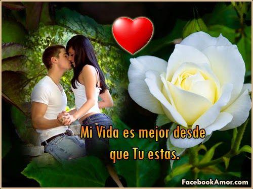 Imagenes de rosa rojas con frase de amor Imagenes Bonitas para Facebook Amor y Amistad