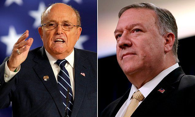 Newly Released Documents Show Rudy Giuliani Contacts With Mike Pompeo Rudy Giuliani Mike Pompeo The Incredibles