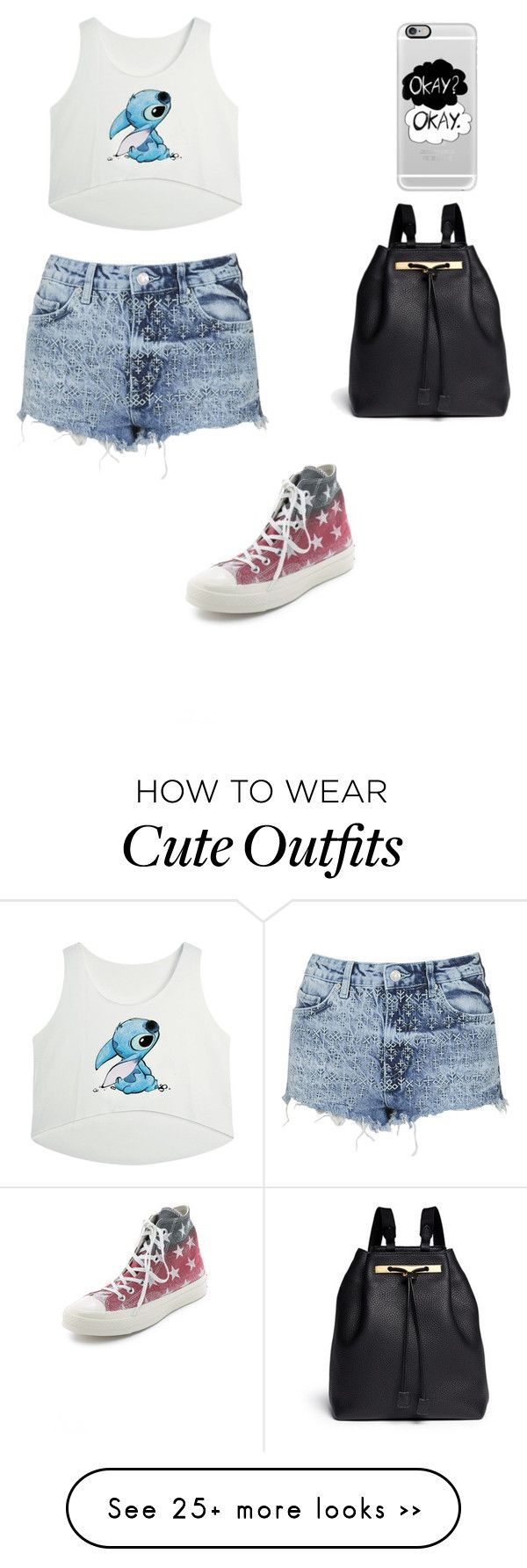 """""""First Outfit!"""" by ireneadysti on Polyvore featuring Topshop, Converse, The Row and Casetify"""