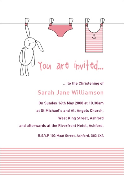 Christening Invitations 11 (no photo)