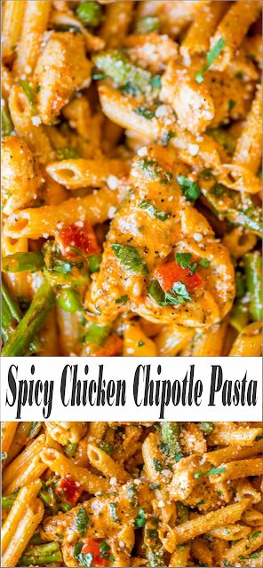 Spicy Chicken Chipotle Pasta | Floats CO #chicken #chickenrecipes #chickendinner #easyfoodrecipes #healthyfood #healthyrecipes