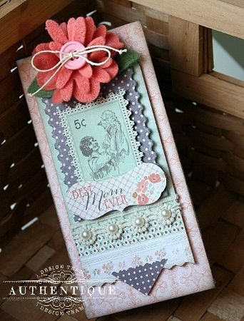 Grace Collection: One Paper, One Mini Album...it's a tutorial for making your own Mother's Day Mini Album by Shellye M… | Mother's Day Mini Album Ideas | Pinte…