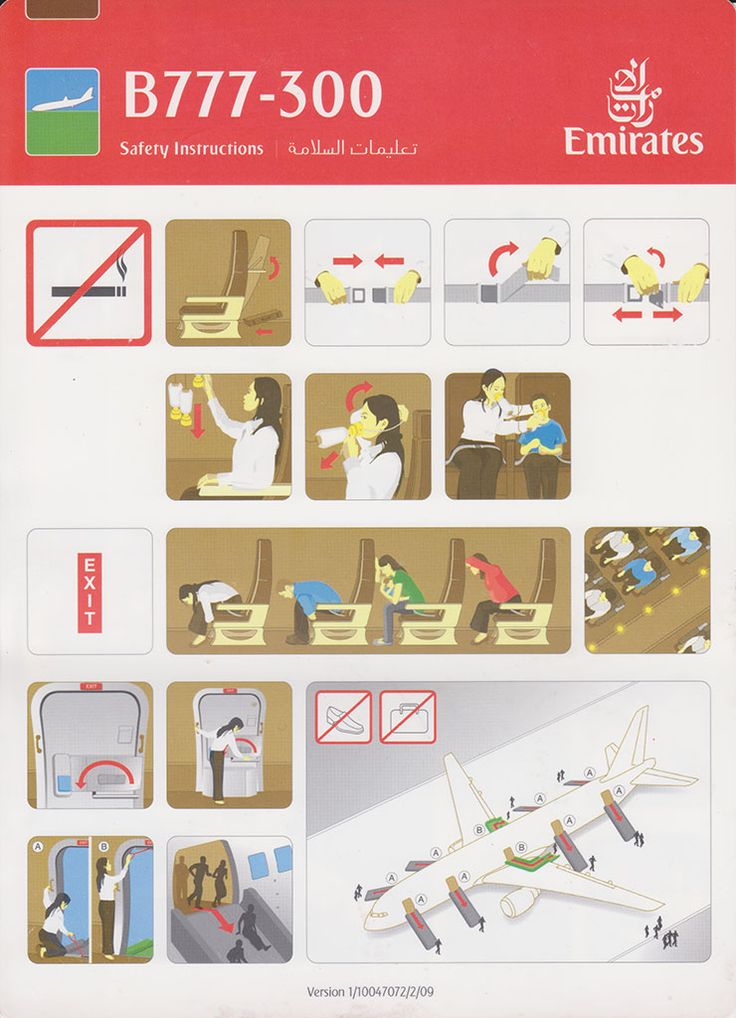 Safety Card  Emirates B777-300 (1) front