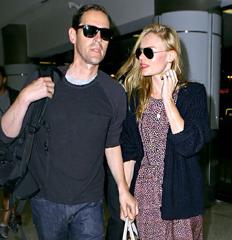 Kate Bosworth and Michael Polish show off their wedding rings