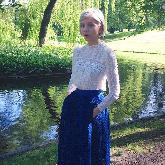 Walking in the park in my medieval-nun-outfit. And yes this photo was taken in 2014. by auroramusic