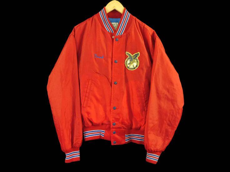 VTG Castle Rock Colorado Nylon Jacket - Medium - Fraternal Order of Eagles - Frank - Vintage Clothing - Bomber Jacket - 90s Clothing - by BLACKMAGIKA on Etsy