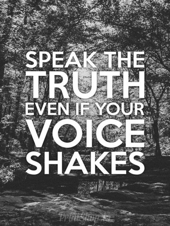 Speak the truth                                                                                                                                                     More