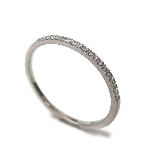 14k gouden ring - Verlovingsring, Wit goud, Goud diamanten ring, Handgemaakte ring, Filigraan, Vintage, Keltische ring, Diamanten ring