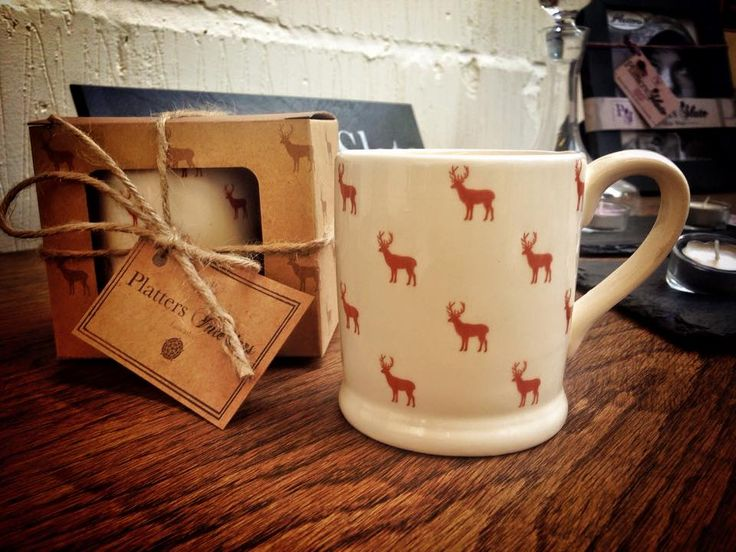 An on trend stylish mug is a great addition to the country home.  Dishwasher safe and boxed in a natural brown craft box, perfect for any country living   rustic home   www.plattersinteriors.co.uk