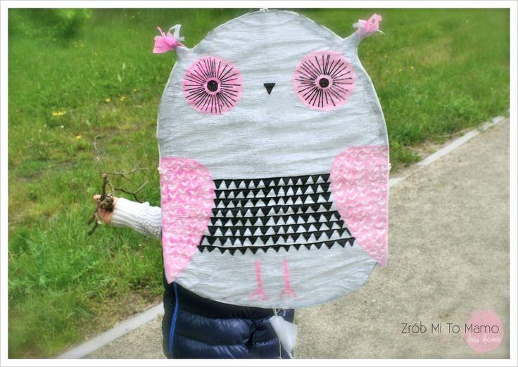 DIY owl kite / latawiec sowa