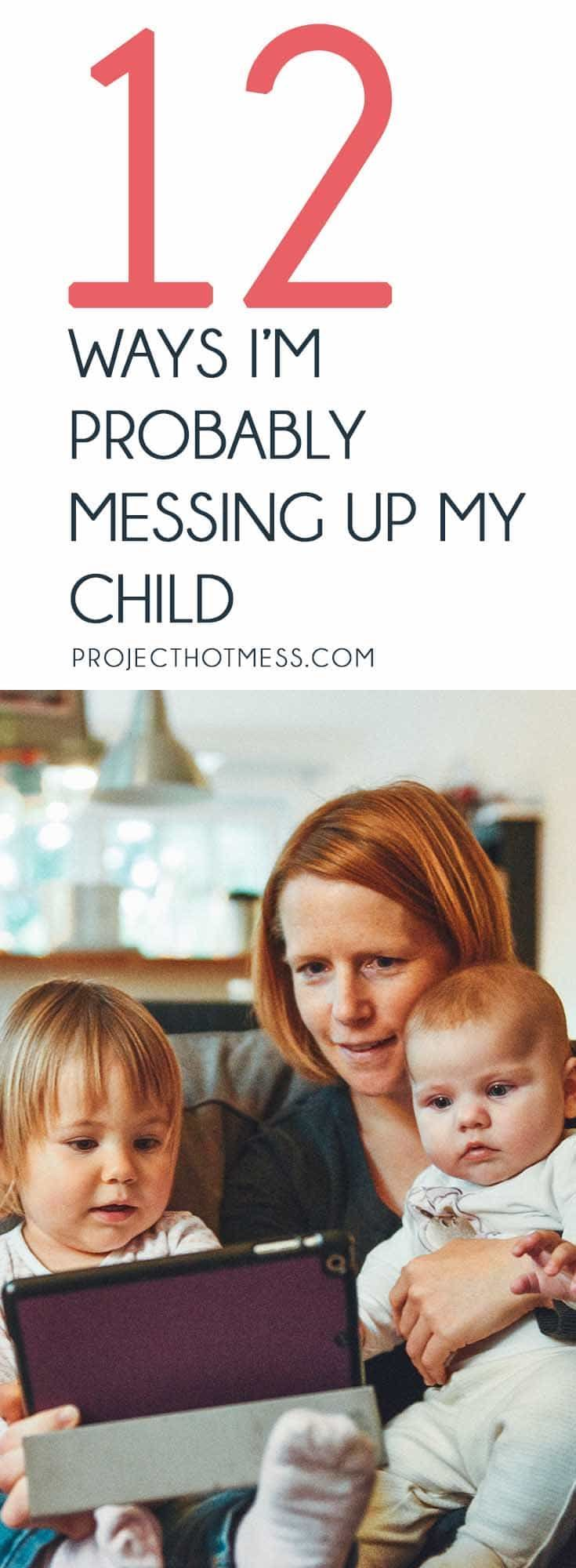 Parenting is hard. I literally stay awake at night thinking I'm probably messing up my child. What some say is right others say is wrong. It's a tough job! There's probably a million ways to mess up a child, these are the ones I stress about. Parenting | Parenting Advice | Mom Life | Parenting Goals | Parenting Ideas | Parenting Tips | Parenting Types | Parenting Hacks | Positive Parenting | Parenthood | Motherhood | Surviving Motherhood