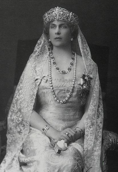 Queen Victoria Eugenie of Spain (1887-1969), grandmother of King Juan Carlos I of Spain and a favorite granddaughter of England's Queen Victoria
