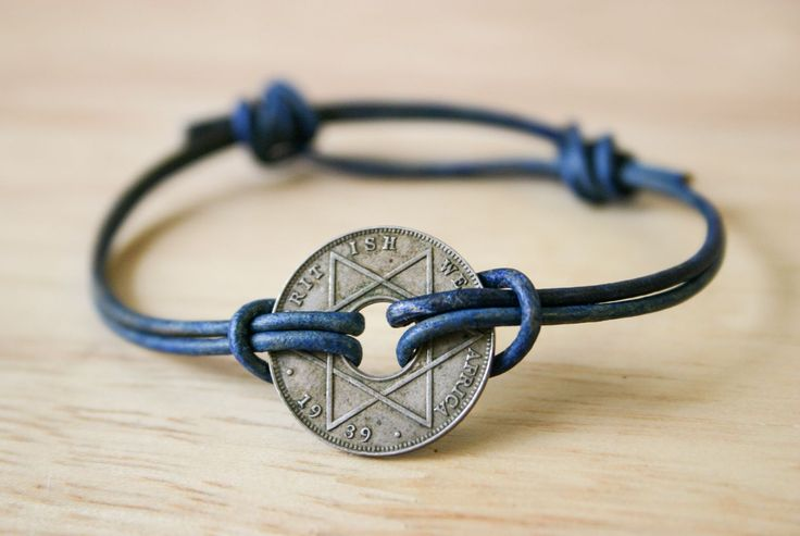 Simple Sliding Knot Bracelet with an Antique African Coin