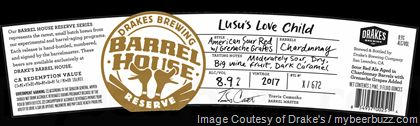 mybeerbuzz.com - Bringing Good Beers & Good People Together...: Drakes Brewing Barrel House Reserve - Lusu's Love ...