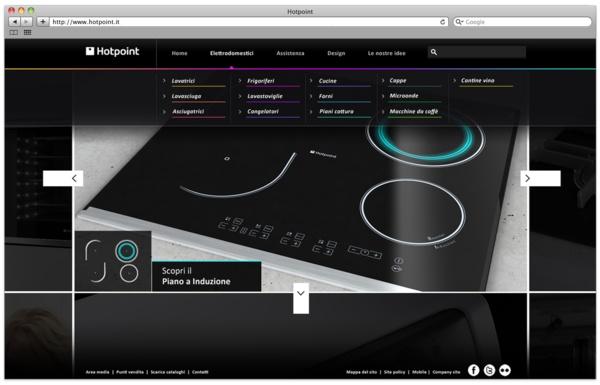 Hotpoint.it - web presence by Gianpaolo Tucci, via Behance