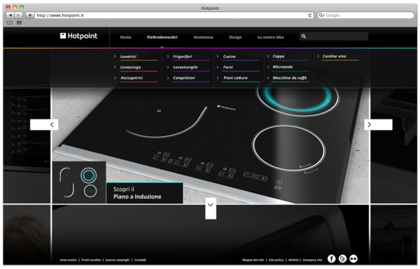 Hotpoint.it - web presence by Gianpaolo Tucci, via Behance