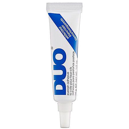 Лучший и доступный клей для ресниц и другой фигни DUO  eyelash glue. Для кожи безопасен, есть в каждом корнере MAC, бывает черный и прозрачный, если есть планы клеить не только ресницы на него, лучше прозрачный.