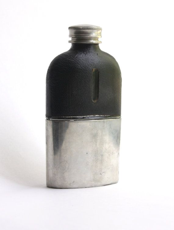 1800s Antique Pewter James Dixon  Sons Hip Flask  Cornish Sheffield Made in England