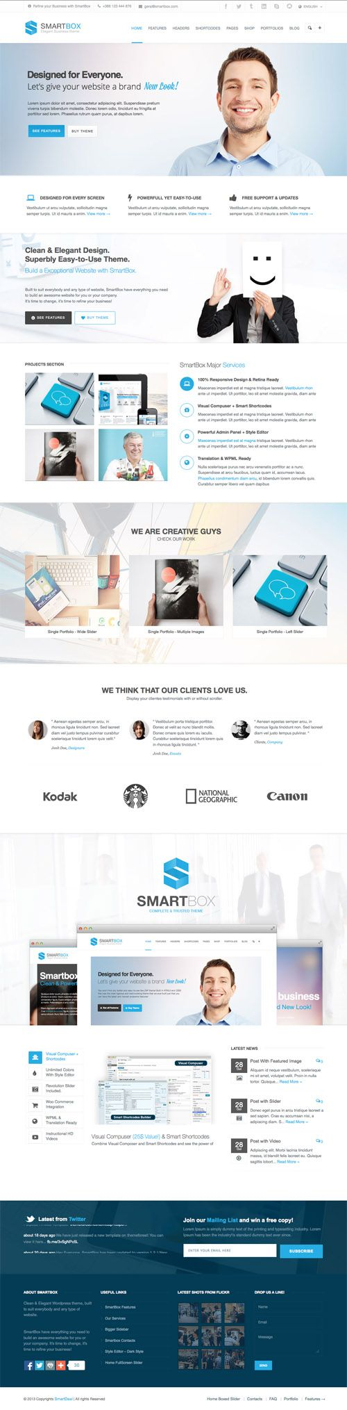 SmartBox PSD Template #psdtemplates #onepagetemplates #businesstemplates #websitetemplates