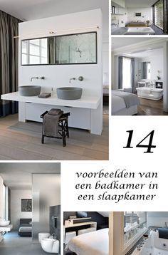 Wil je een open slaap-/ badkamer? Bekijk 14 voorbeelden van een badkamer in een slaapkamer: http://kleinebadkamers.nl/kleine-badkamer-voorbeelden/10-voorbeelden-van-een-badkamer-de-slaapkamer/