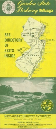 Official 1968 road map directory #garden state parkway new #jersey #telegraph hil,  View more on the LINK: http://www.zeppy.io/product/gb/2/221455954802/