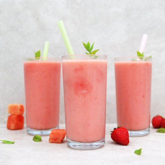 How to make a watermelon chill from Pizza Express! Refreshing and easy!