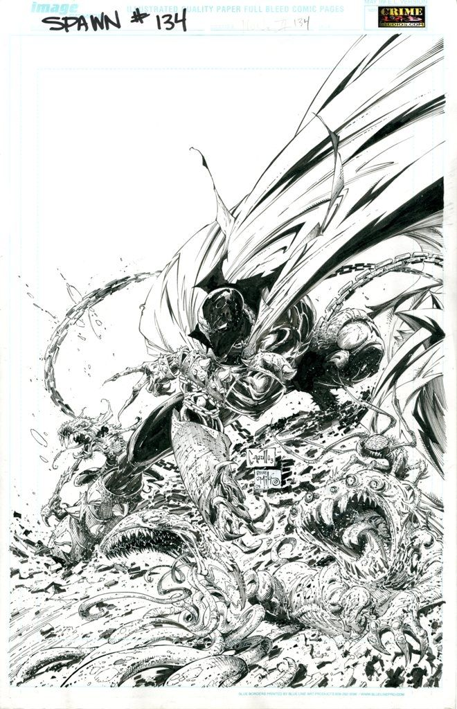 spawn coloring pages - 17 best images about greg capullo inks on pinterest