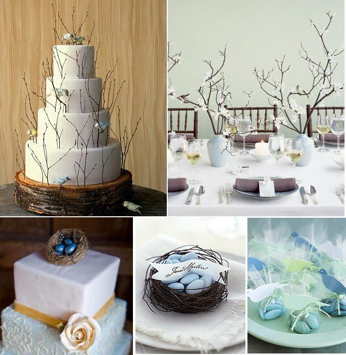 Bird theme wedding ideas Rustic and organic