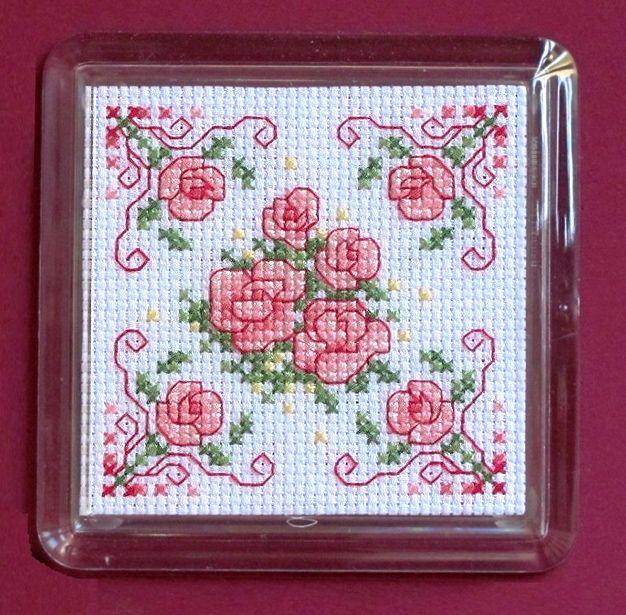 Maria Diaz Designs: Rose Coaster - (Complete Kit)