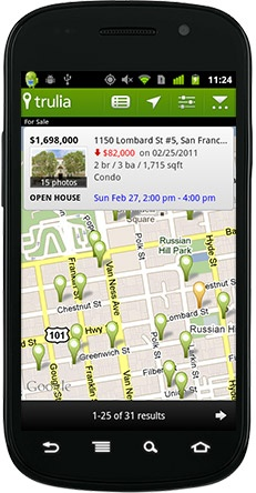Trulia real estate app