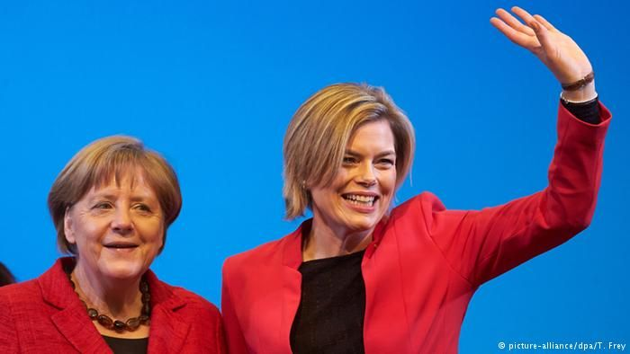 Angela Merkel and Julia Klöckner in Bad Neuenahr