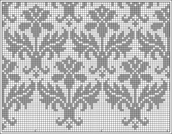 Kauni damask pattern - filet crochet, but I'll stitch it for a cushion... :)