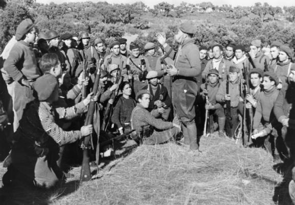 INTERNATIONAL BRIGADE DURING SPANISH CIVIL WAR DECEMBER 1936 - JANUARY 1937 (HU 71553)