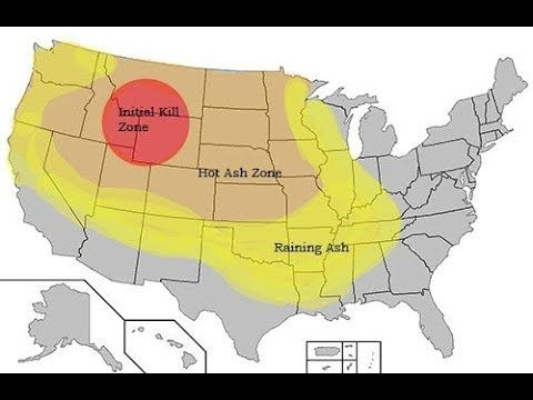 Yellowstone Rated High Risk By USGS-The Zones Of Impact*Etna Sliding on rainier destruction map, yosemite caldera map, everglades destruction map, yellowstone destruction radius, yellowstone destruction zone, yellowstone super volcano effects, yellowstone fallout projections super volcano,