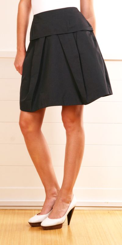 Marni dark navy skirt