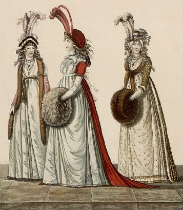 The muff was usually made from fur like sable or squirrel. It was used both as an accessory and to warm the hands. Women from high and middle classes often used these.