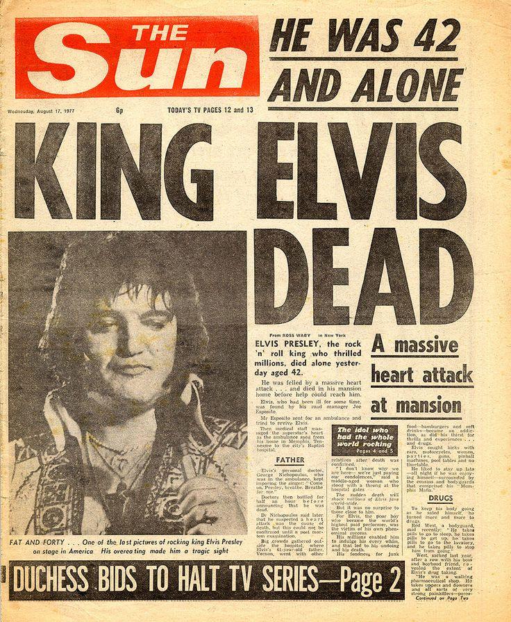 .: Elvis Dead, Music, History, 70 S, Elvispresley, August 16, Rock, King Elvis, Elvis Presley