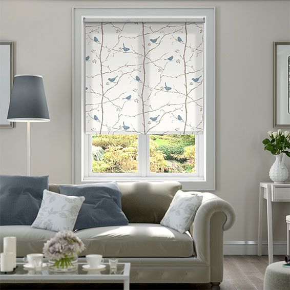 Dawn Chorus Mineral Blue Roller Blind from Blinds 2go