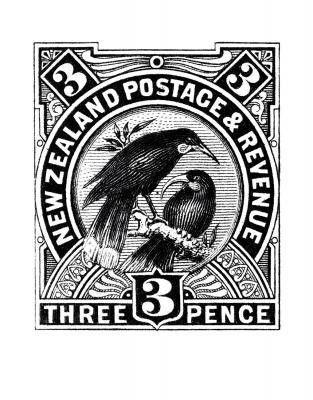 Huia Stamp - New Zealand Art Prints